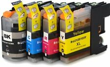 4 PK  LC123 Ink Cartridge For Brother DCP-J4110DW MFC-J4410DW MFC-J4510DW XL