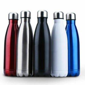 1L Edelstahl Trinkflasche Isolierflasche Wasserflasche Thermosflasche Flask DE