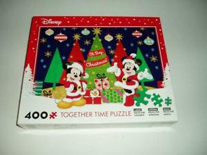Together Time Mickey and Minnie Jigsaw Puzzle 400 Pc Oh Boy Christmas Complete
