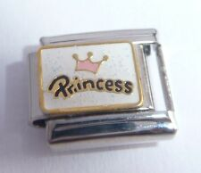 PRINCESS Italian Charm - 9mm Classic Size - I Love my PINK CROWN TIARA Daughter