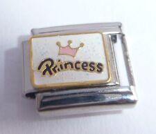 PRINCESS Italian Charm - 9mm Classic Size - I Love my PINK CROWN TIARA Daughter