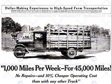 ADVERT TRUCK LORRY LIVESTOCK WAGON SPEED TRANSPORT USA ART POSTER CC6252