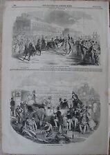 1844 Antique Engravings - English Horse Racing - Royal Ascot & Gorhambury Races