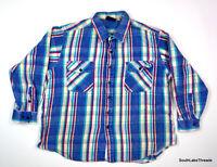 VTG Men's 2XL Dakota Rustic Heavy Weight Long Sleeve Button Front Shirt Flannel