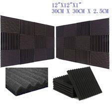 24Pcs Acoustic Music Wall Panels Sound Proofing Foam Pad Studio Decor 12x12 New