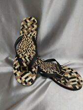 Cole Haan Women's Multi Color Thin Flip Flops Sandals Size 8  Strap Buckle