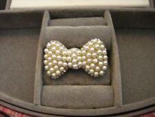 Großer Ring Schleife  mit Perlen und Kristallen Traumschön dehnbar bis ca 18,5