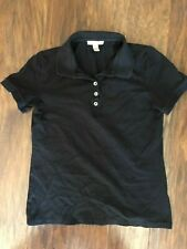 Burberry Brit Women's Size Small S/P Black Polo