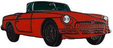 MG MGB chrome bumper car cut out lapel pin - Red