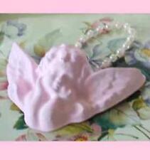 SHABBY CHERUB BABY ANGEL PLAQUE CHIC PINK COTTAGE DECOR ORNAMENT bereavement