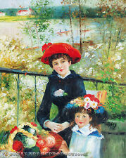 """""""On the Terrace"""" by Pierre A. Renoir, Reproduction Oil, 42""""x34"""""""