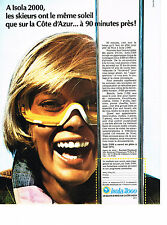publicité  advertising  1972   ISOLA 2000   station de Ski
