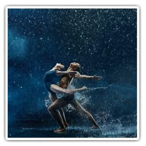 2 x Square Stickers 7.5 cm - Magical Ballet Dancers Dancing Cool Gift #24505