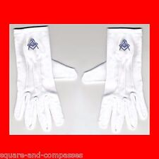 ☆Size LARGE L LG NEW MASONIC FREE MASON FREEMASON WHITE DRESS GLOVES FREEMASONRY