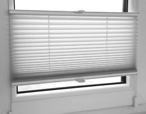 Pleated Blind Easy Install Plisse Conservatory Blind White 110cm Wide,200cm Drop