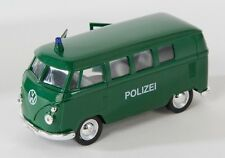 BLITZ VERSAND VW Bus T1 1963 Polizei grün Welly Modell Auto 1:34-1:39 NEU & OVP