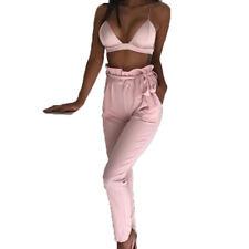 Women Pencil Trousers Skinny Stretch High Waist Leggings Pants Cargo Jeggings US