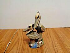 2 Pelican Figure Birds On Post