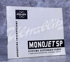 Robert Bosch Germany Monojet SP Electronic Flash Manual
