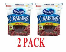2 x Ocean Spray Craisins Dried Cranberries Original 1.36Kg Re-Sealable Bags