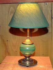 Lampe a posée en verre, laiton et miroir . Années 60, vintage.
