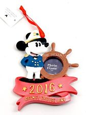 NEW Disney Cruise Line DCL 2016 Captain Mickey Mouse Photo Frame Xmas Ornament