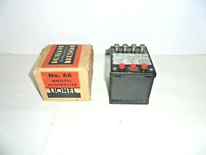 LIONEL PREWAR #66 WHISTLE CONTROL WITH ORIGINAL BOX