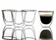 4 x La Cafetiere JACK DOUBLE WALL ESPRESSO GLASSES Insulated Cups Mugs
