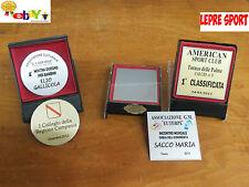 Portatarga + Targa + Stampa Premiazioni Personalizzabile Oro Argento + Astuccio