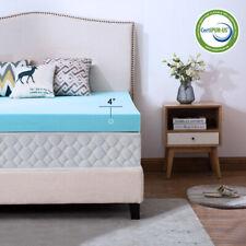 Gel Blue 4 Inch Full Memory Foam Mattress Topper Ventilated Dot Comfort Soft Bed