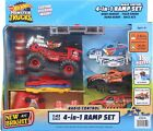 Hot Wheels 4-In-1 RC Radio Control Ramp Set Swap Monster Truck Body Carry Case