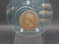 10 centimes 1857 w France rare (2416)