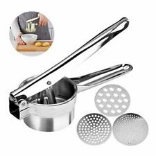 Professional Stainless Steel Potato Ricer Potato Masher with 3 Ricing Discs Fine