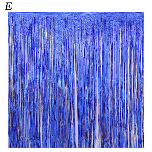 Metallic Sequin Backdrop Foil Fringe Tinsel Curtain Birthday Party Decoration 2M