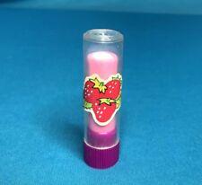 Vintage 1980s Pink Lipstick Eraser Rubber Strawberry School Supplies