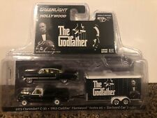 Greenlight Hollywood~The Godfather~1972 Chevy C-10~1955 Cadillac & Trailer~New~