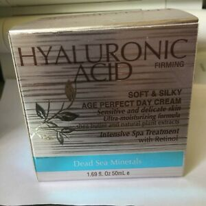 Hyaluronic Acid Soft & Silky Age Perfect Day Cream Dead Sea Minerals Exp 02/2024