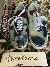 Supreme Bleached Denim Era Vans Sk8 Skate Shoes Size US10 Box Logo SS2010
