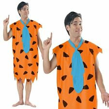 Flintstone TV Cartoon The Flintstones Caveman Halloween Mens Fancy Dress Costume