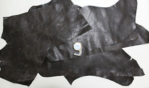 Rustic Brown Leather Scraps Leather offcuts Remnants Sheets Goatskin Sheep
