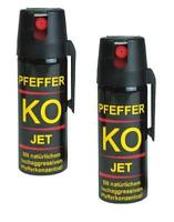 2 x Pfefferspray 40ml Tierabwehrspray Ballistol Jet Verteidigungs Spray KO