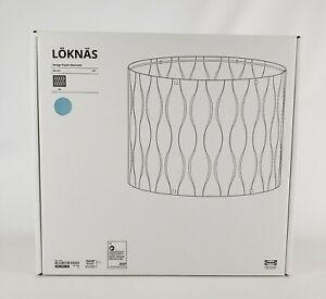 """Ikea LÖKNÄS Loknas Lamp Shade Hanging Pendant Blue/Silver 17"""" New"""