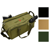 Every Day Carry Tactical Shooting Range Bag with Pistol Pouches and Dual Zippers
