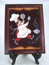 Tava Kitchen Chef Art Framed 13x10
