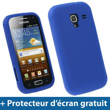 Bleu Étui Housse Silicone pour Samsung Galaxy Ace 2 I8160 Android Smartphone