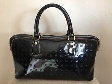 ARCADIA Black Patent Leather Italian  Handbag purse Bag