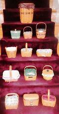 Lot of 13 Longaberger Baskets