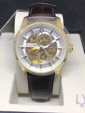 Bulova Men's 97A138 Automatic Sutton Brown Leather Strap Watch 43mm Watch #C27
