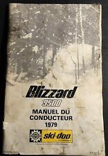 1979 Ski-Doo Blizzard 9500 Snowmobile Operators Manual Read (708)