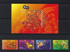 China Hong Kong 2012 New Year of Dragon stamp set